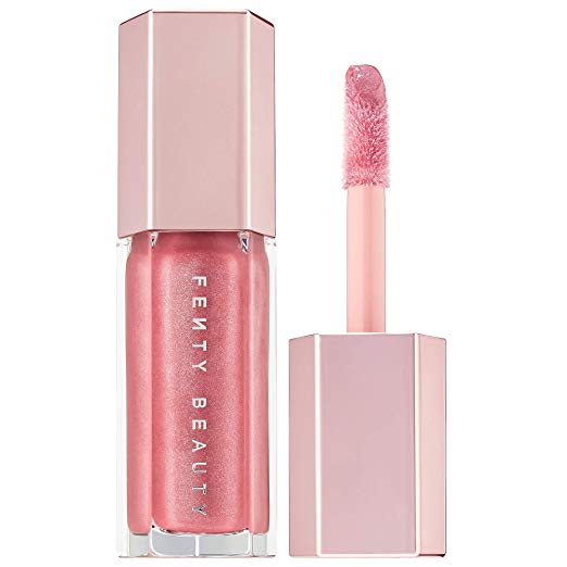 Nishu Hossain, 5 Best Lipstick Colors for Spring, Gloss Bomb Universal Lip Luminizer - FU$$Y Shimmering Pink